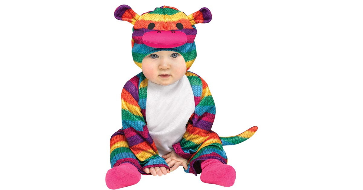 Rainbow Sock Monkey Costume For Kids