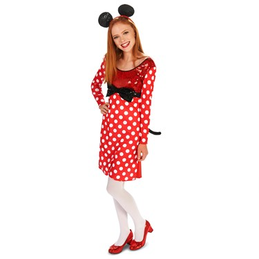 Red & White Mouse Dress Tween Costume