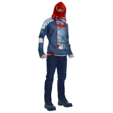 Red Hood Muscle Chest Adult Costume Top