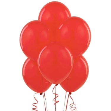 Red Matte Balloons (6 count)