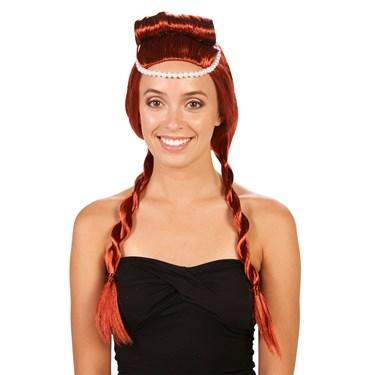 Red Medieval Adult Wig