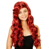 Red Mermaid Adult Wig
