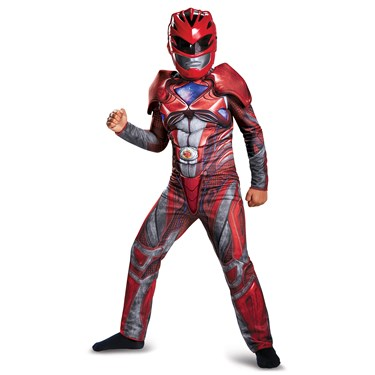 Red Ranger Movie 2017 Classic Muscle Child Costume