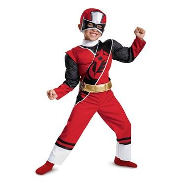 Red Ranger Ninja Steel Child Muscle Costume