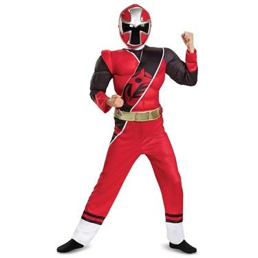 Red Ranger Ninja Steel Muscle Child Costume