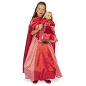 """Red Riding Hood Child Costume S (4-6) with Matching 18"""" Doll Costume"""