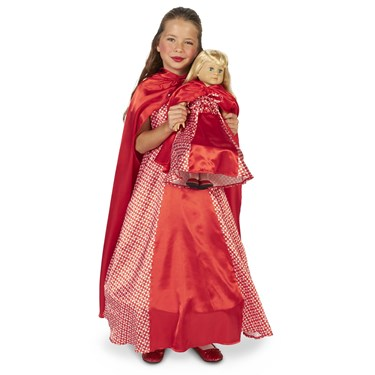 """Red Riding Hood Child Costume with Matching 18"""" Doll Costume"""