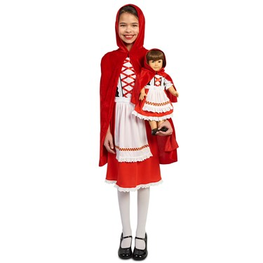 Red Riding Hood Classic Child Costume M (8-10) with Matching 18 Doll Costume