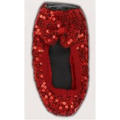 Red Sequin Shoe Covers