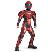 Red Spartan Classic Muscle Teen Costume