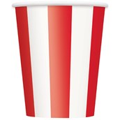 Red Stripe 12 oz. Paper Cups