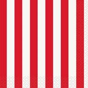 Red Stripe Beverage Napkins