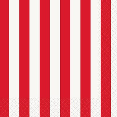 Red Stripe Lunch Napkins