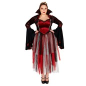 Royal Red Goth Queen Adult Plus Costume