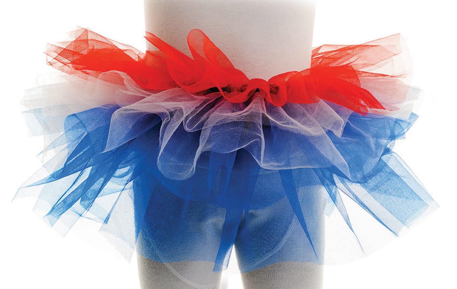 Red, White & Blue Tutu For Girls