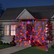 Red, Yellow, Purple Interchangable Colors Confetti Projection Light