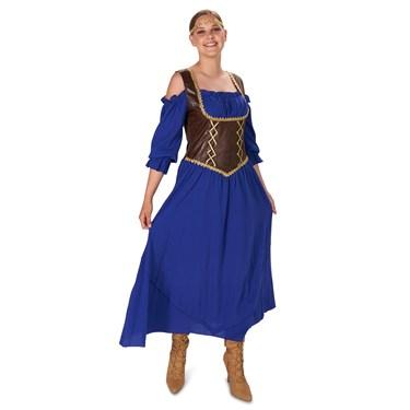 Renaissance Corset Purple Peasant Dress Adult Costume