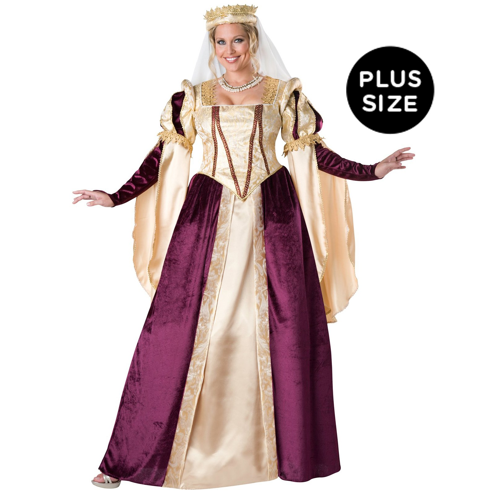 Plus Size Medieval Dresses: Renaissance Princess Womens Plus Size Costume