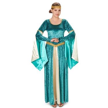 Renaissance Teal Dress Adult Costume