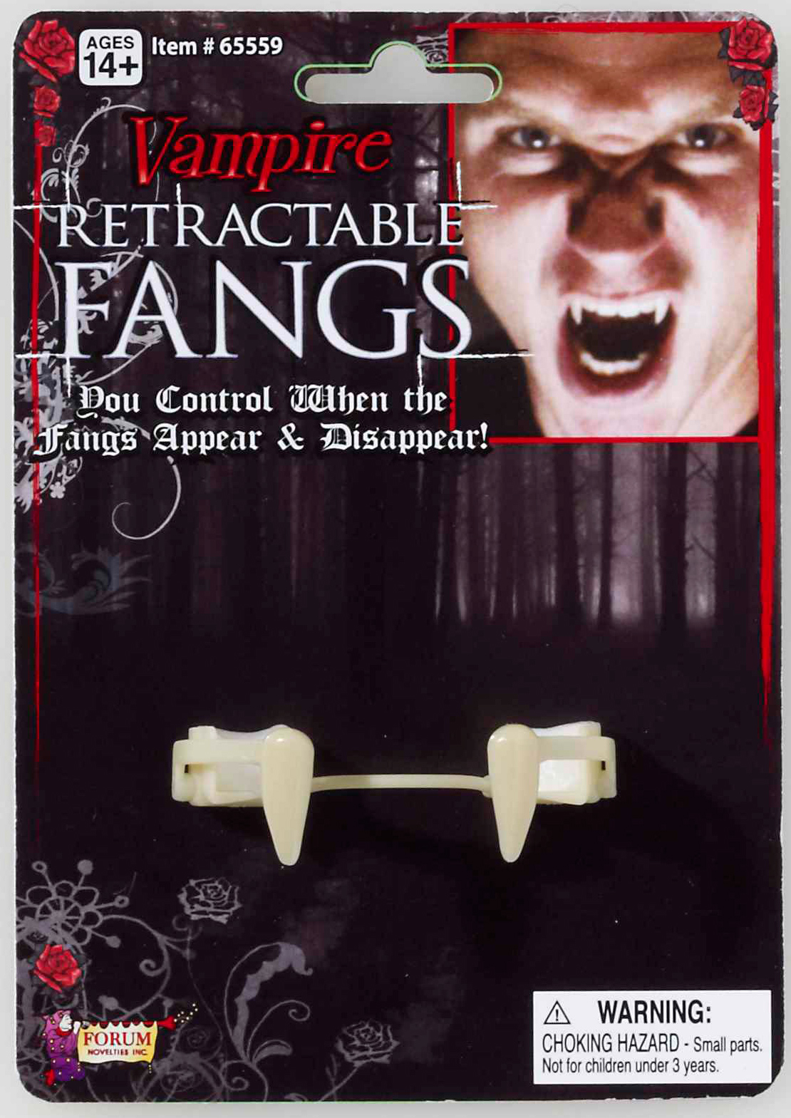 Pin The Fangs on The Vampire Retractable Vampire Fangs