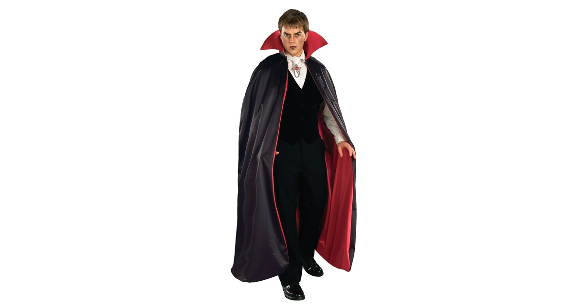 Reversible Deluxe Lined Vampire Cape Red/Black