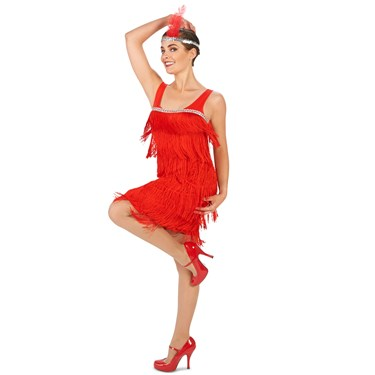 Roarin' Red Flapper Adult Costume