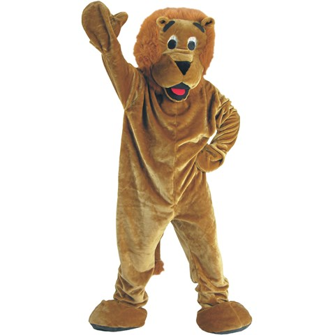 Roaring Lion Economy Mascot Adult Costume