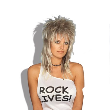 Rocker Wig (Blonde) Unisex Adult