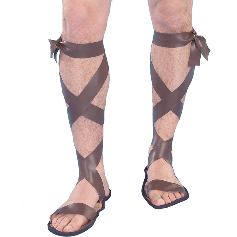 Forum Novelties Adult Roman Adult Sandals- Brown: One Size