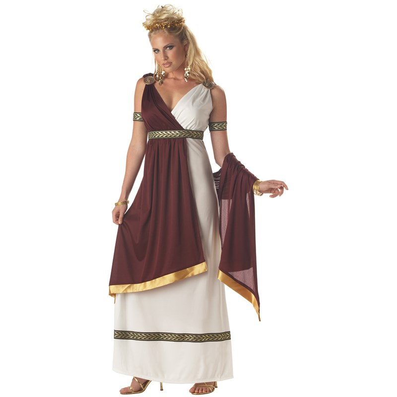 Adult Roman Empress Adult Costume- White: Large (10-12)
