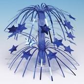 Royal Blue Star Cascade Centerpiece