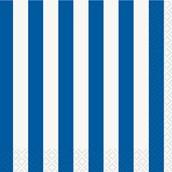 Royal Blue Stripe Beverage Napkins