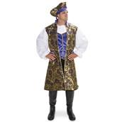 Royal Brocade Pirate Tunic Vest Set Adult Costume