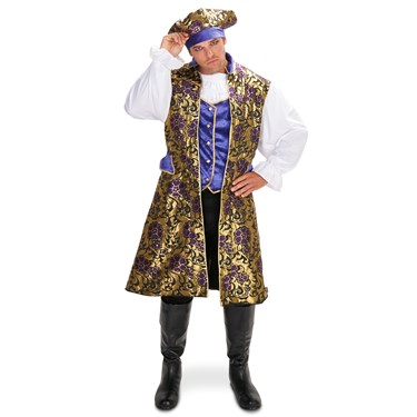 Royal Brocade Pirate Tunic Vest Set Adult Plus Costume