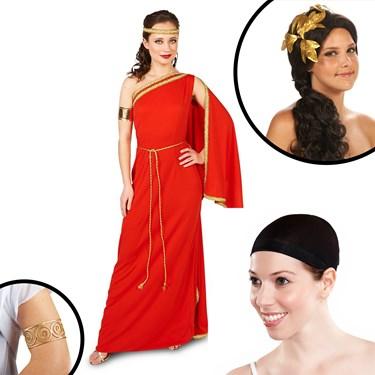 Royal Ruby Toga Adult Costume Kit