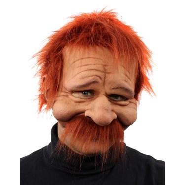 Rusty Half Mask w/ Hair & Mustache