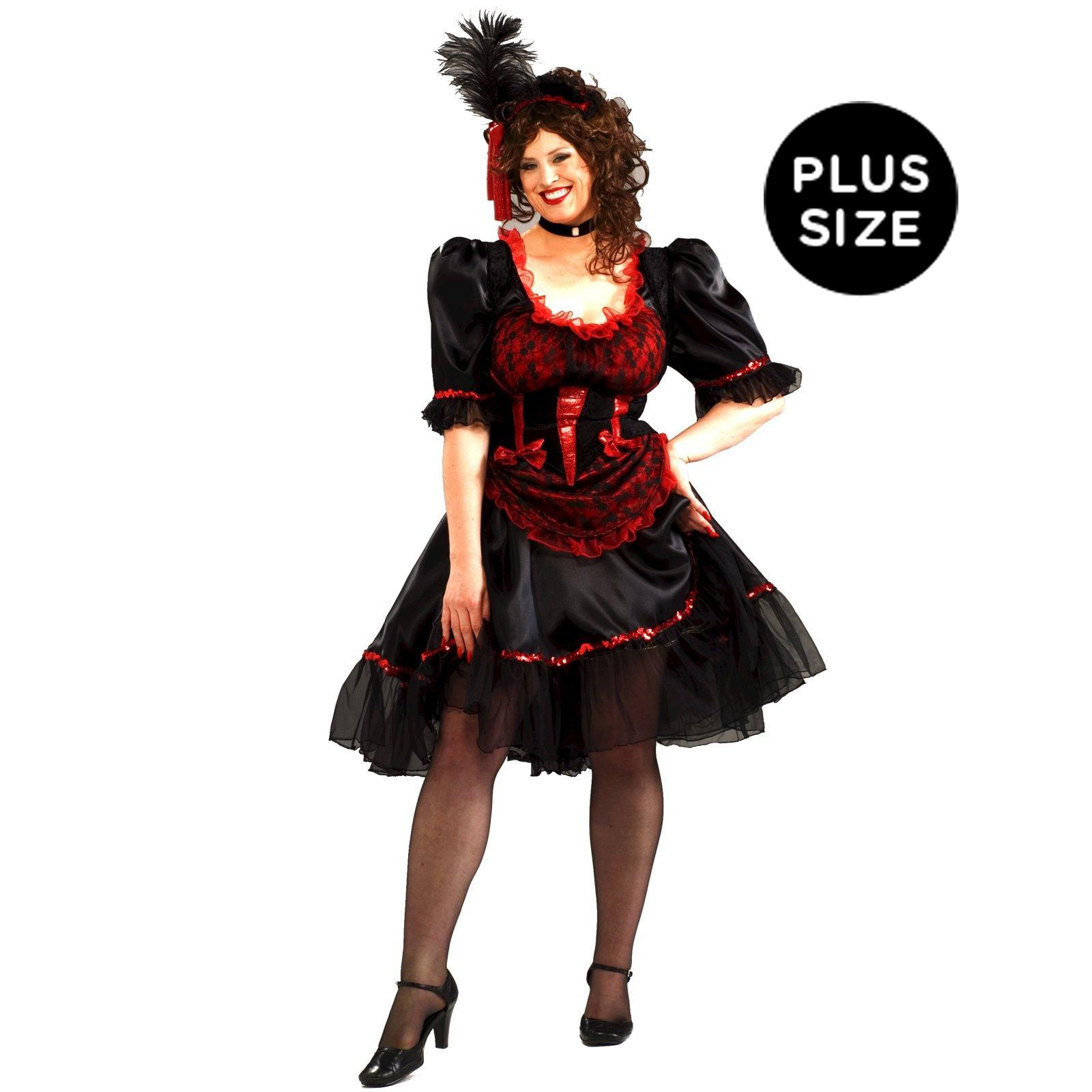 Saloon Girl Adult Plus Costume : BuyCostumes.com