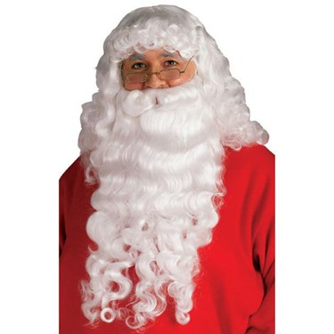 Santa Beard And Wig Set