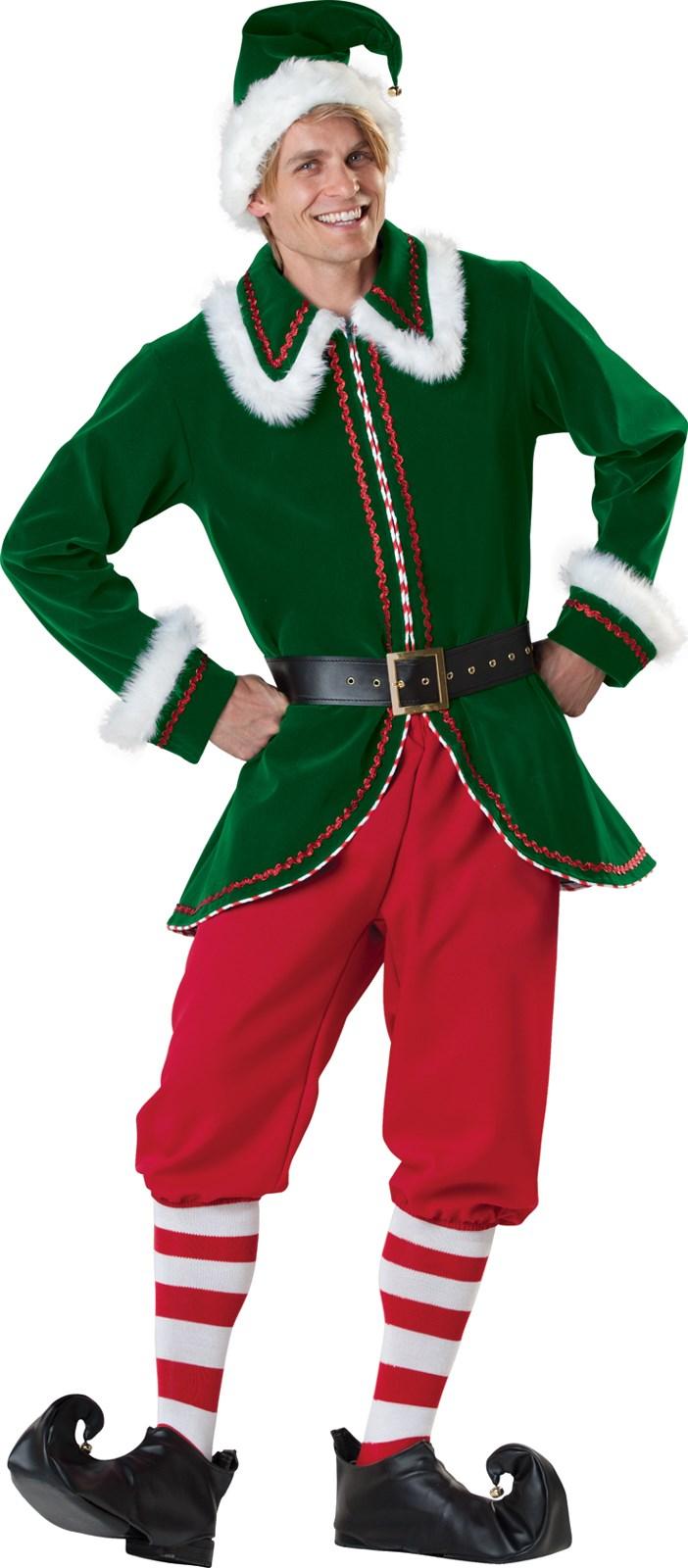 Santa s elf adult costume buycostumes com