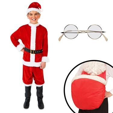 Santa Suit Child Costume Kit