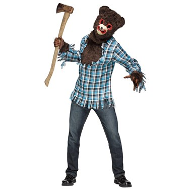 Scary Teddy Bear Costume For Adults