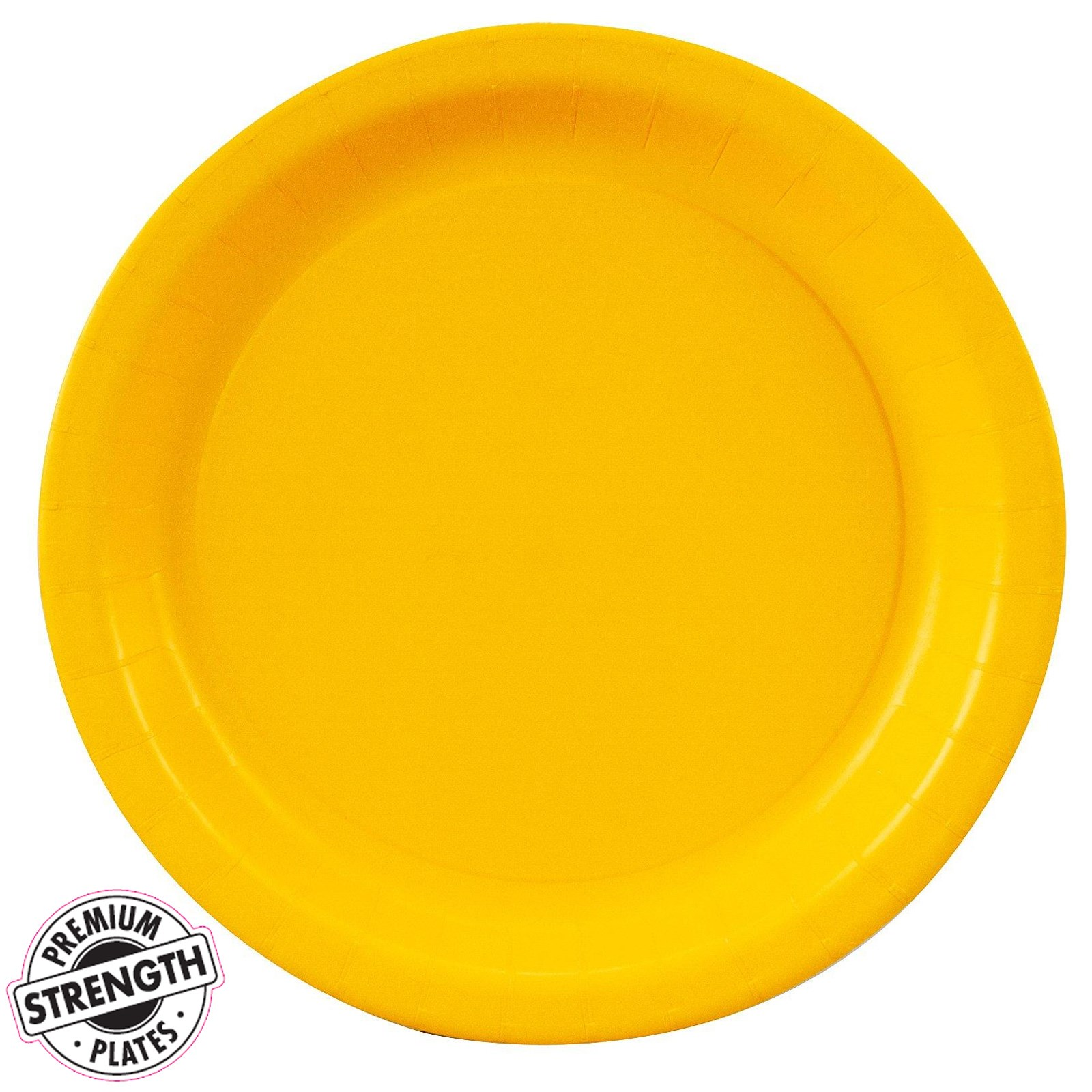school bus yellow yellow dessert plates 24 count. Black Bedroom Furniture Sets. Home Design Ideas