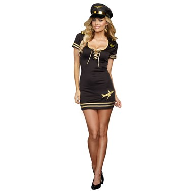 Service with a Smile Pilot Costume For Adults