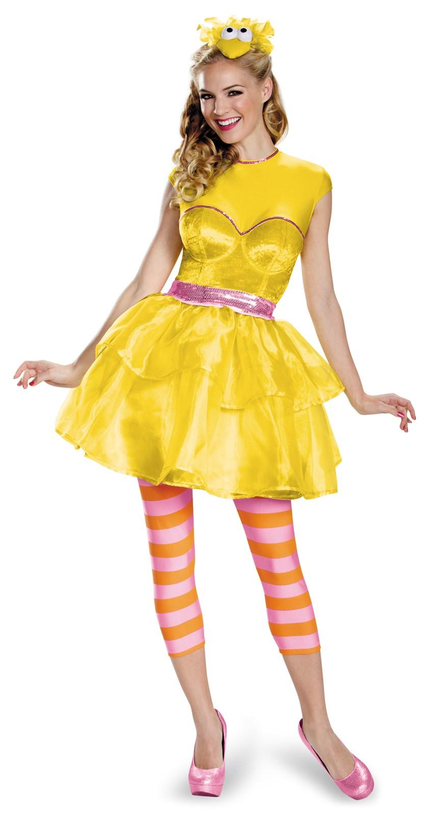 Sesame Street Big Bird Sweetheart Dress For Women