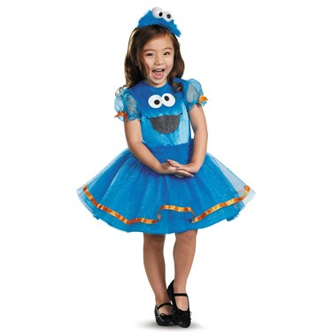 Sesame Street Deluxe Cookie Monster Toddler Tutu Costume