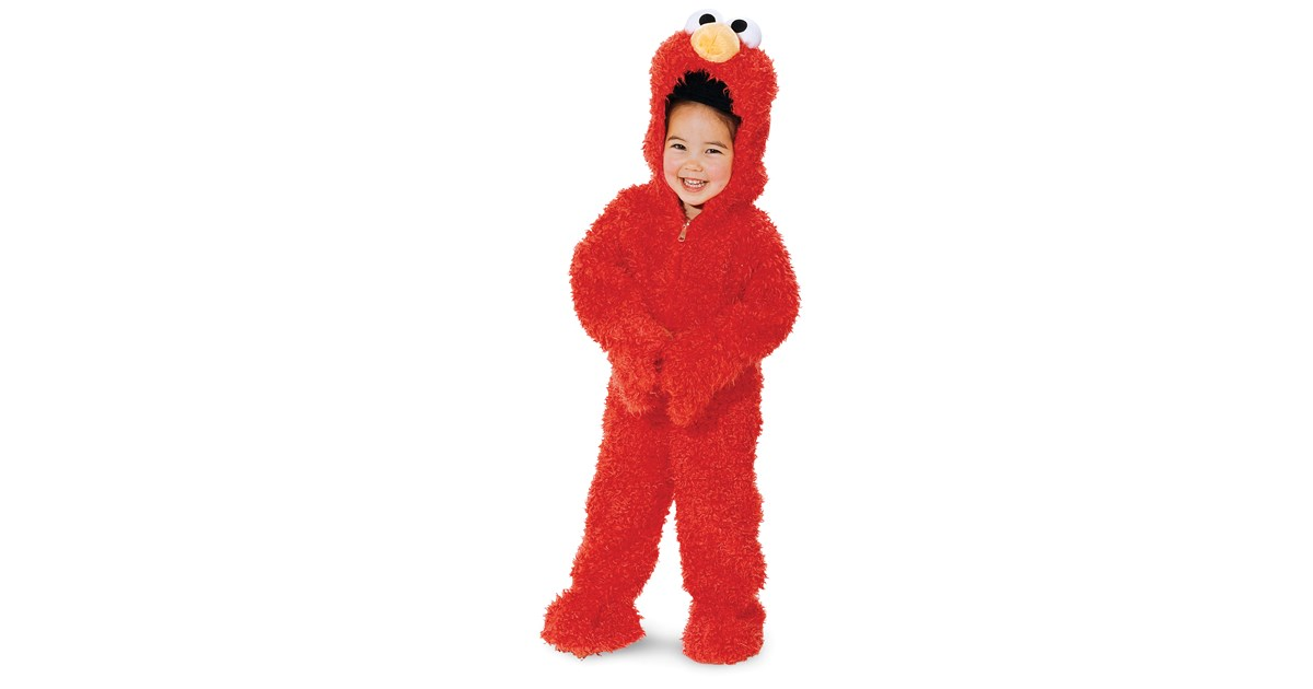 sesame street elmo plush deluxe toddler costume buycostumescom - Halloween Costumes Elmo
