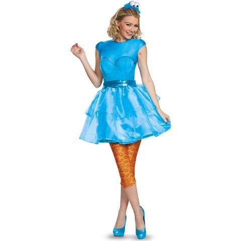 Sesame Street Womens Cookie Monster Sweetheart Dress
