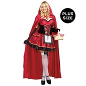 Sexy Little Red Riding Hood Plus Size Dress
