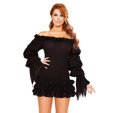 Sexy Ruffled Pirate Dress with Sleeves & Multi Layered Skirt Costume