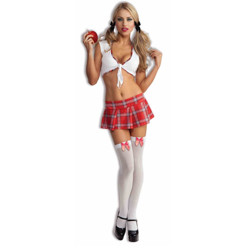 Sexy School Girl Red Adult Costume